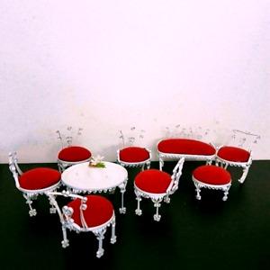 $40 Vintage Tramp Tin Can Doll House Furniture Set