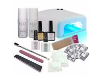 BRAND NEW CCO DELUXE FRENCH MANICURE GEL NAIL KIT POLISH VARNISH STARTER SET WITH 36W LAMP LIGHT