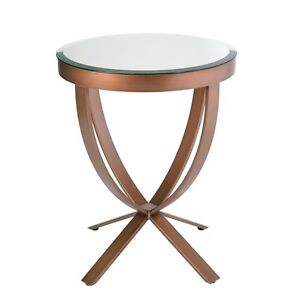 Brand New End/Side Table with Beveled Mirror Top