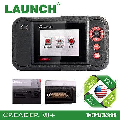 Launch Creader Vii Plus Automotive Code Reader OBD2 Scanner Tool Diagnostic Scan