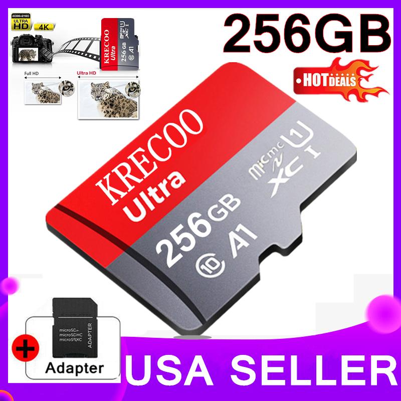 256GB Micro Memory SD Card 4K Class10 Flash TF Card with Ada