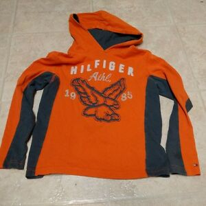 Boys Size 6/7 Hooded Long Sleeve t-shirt by Hilfiger
