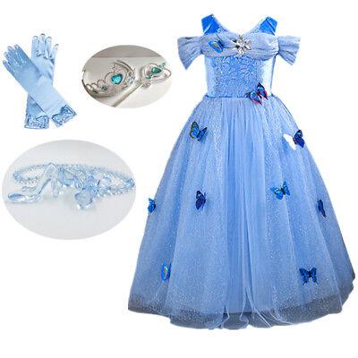 Kids Girl Cinderella Princess Dress Baby Party Dress Kids Sandy Cosplay Costume  - Baby Costumes Girl