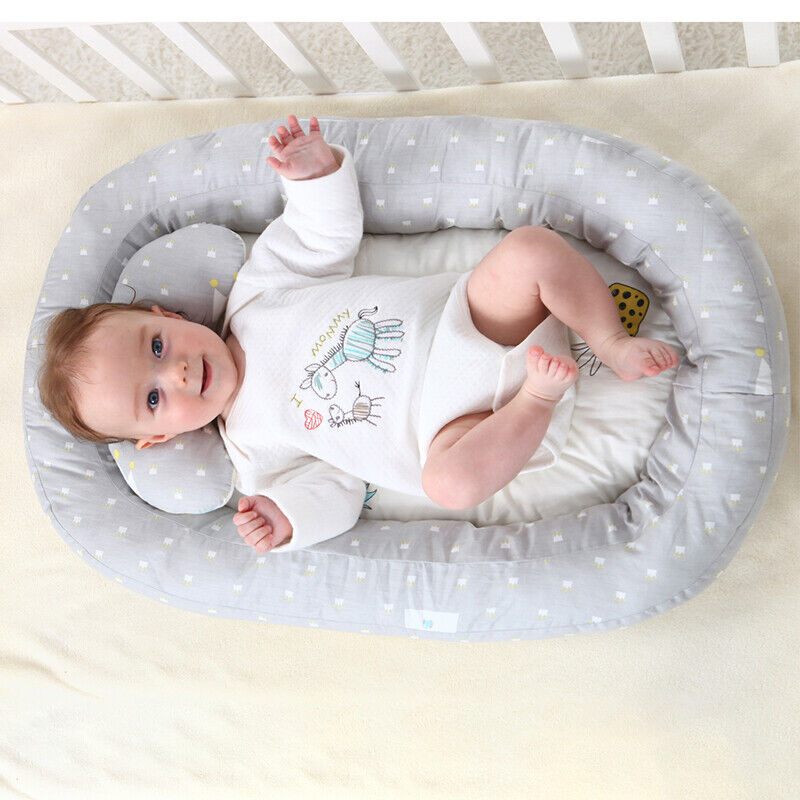 Baby Bassinet Bed Portable Baby Lounger Newborn Crib Breathable Nest With Pillow