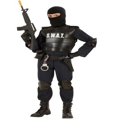 KINDER S.W.A.T. Kostüm Jungen Spezial Polizei Polizist SEK SWAT - Karneval - Polizei Swat Kostüm