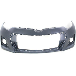 2014 TOYOTA COROLLA S FRONT BUMPER TO1000400 5211903906