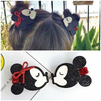 Minnie Mouse Hair Bow (Girls Hair Bow Hairpin Hello Kitty Minnie Mouse Ears Barrette Children)