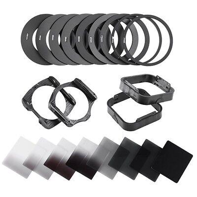 Square Neutral Density ND 2 4 8 16  Filter Kit for Cokin P+ Holder+Adapter Rings