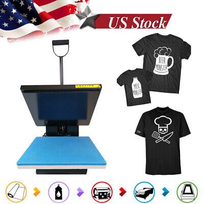 15x15teflon Digital Clamshell T-shirt Heat Press Machine Sublimation Transfer