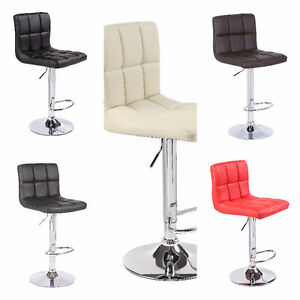 New Bar Stool Chair Seat Adjustable Home Office Various Colour