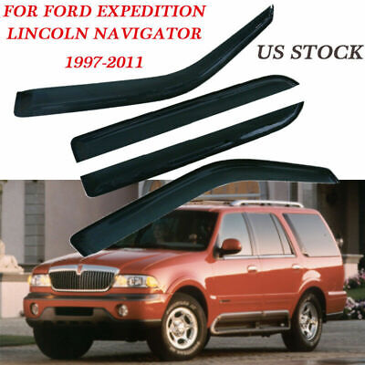 - Set Window Visor Vent Array Smoke Fit for Ford Expedition 2007-2017 Vehicle Part