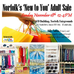 """140+ Table Norfolk """"New to You' Adult Sale"""