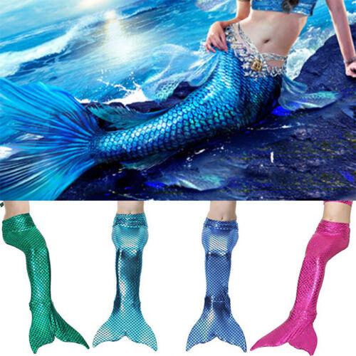 Mädchen Meerjungfrau Mermaid Kostüm Monofin Schwanzflosse Bademode Schwimmanzug