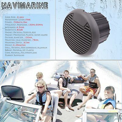 3  Marine Speakers Waterproof Universal Boat Yacht Swimming Pool Outdoor 70W Max