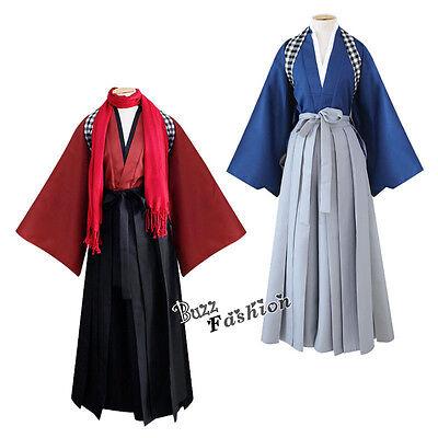 Kostüm Cosplay TOUKEN Yamatonokami Yasusada Japanische Kimono +Weiß Schal S -XXL
