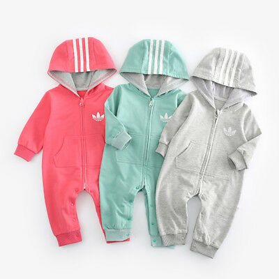 Top Baby Kids Boy Girl Infant Romper Jumpsuit Bodysuit Cotton Clothes Outfit Set 100% Cotton Bodysuit Set