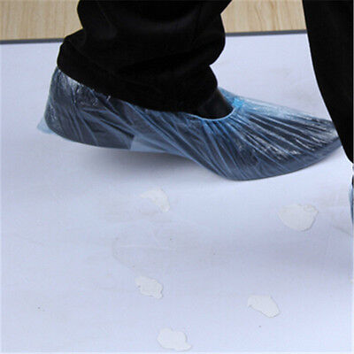 Disposable Waterproof Plastic Shoe Covers Overshoes Pkt Of 20 Pc