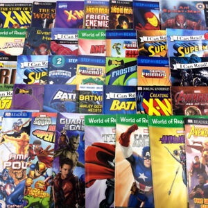 Lot 36 Superhero Level Readers Books Marvel DC Comics Avengers++