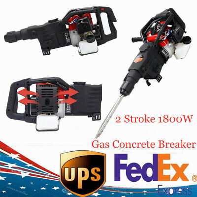1800w Electric Gas Powered Demolition Jack Hammer Concrete Breaker Punch Drill