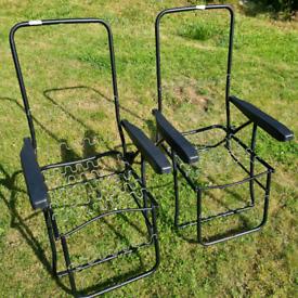Garden sun lounger recliner chairs (frames only no cushions)