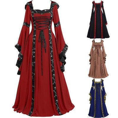 aissance Frauen Viktorianisch Langes Kleid Cosplay Kostüm (Mittelalterliche Frau Kostüm)