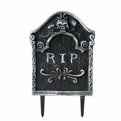 Plastic Tombstones Halloween (Plastic Tombstone Halloween Party Decoration RIP Gravestone Halloweens Decor)