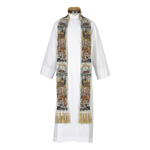 Noah Ark Tapestry Stole worship vestment clergy minister pastor animals NEW