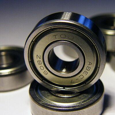 8 Stück, 608 ZZ - 8x22x7, ABEC-7, axiale Lagerluft C2, staubdicht