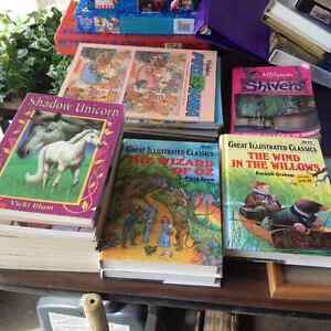 Various books for children to young adolescent