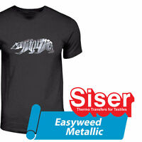 "Siser Easyweed Metallic Chrome mirror Heat Transfer Vinyl 12""x20"