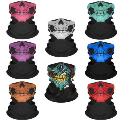 Men Women Skull Bandana Outdoor Sports Headband Seamless Nec