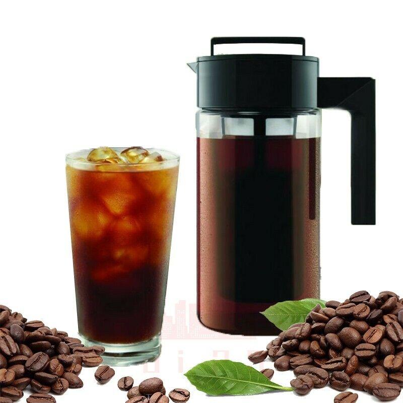 900ML Cold Brew Iced Coffee Maker Airtight Seal Silicone Han