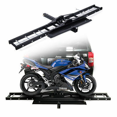 Motorcycle Scooter DirtBike Carrier Rack Ramp Hauler Hitch Mount Anti Tilt 76""