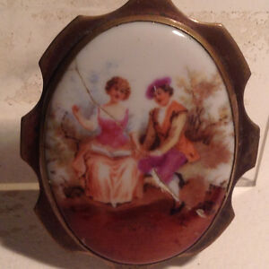 Antiques Ceramics Brooch