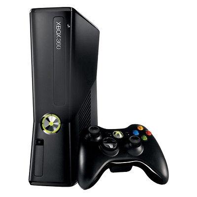 Microsoft Xbox 360 Slim   120 Gb   Black Console Good Condition Complete