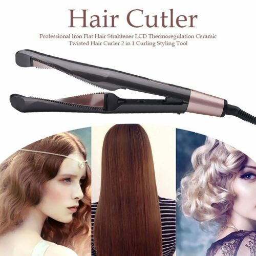 2 in1 Curling Iron Hair Straightener and Curler Tyme Negativ