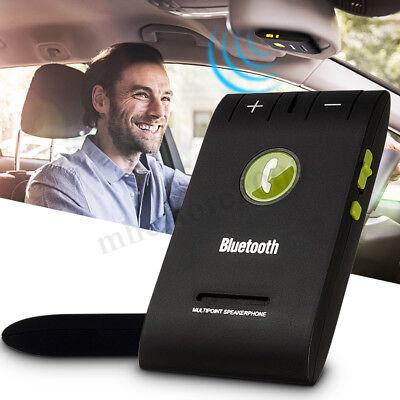 Wireless Bluetooth 4.0 Car Handsfree Kit Speakerphone Speaker Mic Sun Visor Clip