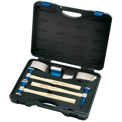 Draper Expert 7 Piece Professional Grade Dolly and Hammer Set for Bodyshop 81905