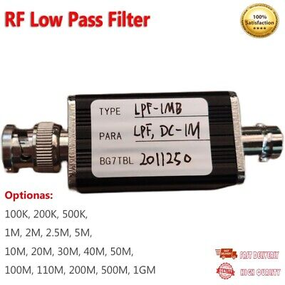 Rf Low Pass Filter Lpf Filter With Bnc Connector For Rf Ham Radio Uses Diy Os12