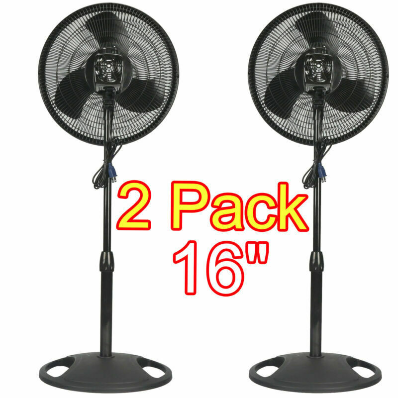 "16"" ADJUSTABLE OSCILLATING PEDESTAL FAN STAND FLOOR 3 SPEED"