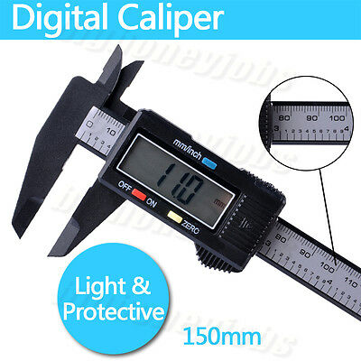 "150mm 6"" LCD Digital Electronic Gauge Vernier Caliper Micrometer Measuring Tool"