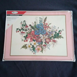 fs:  4 Pimpernel Placemats - NEW and SEALED