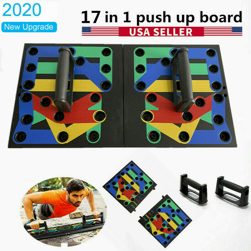 17 in 1 Push Up Rack Board System Fitness Workout Train Gym Exercise Stands