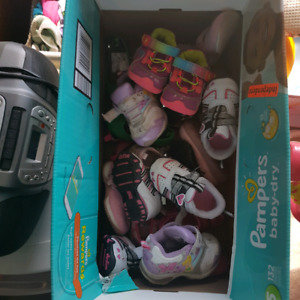 lot of baby girl shoes size 4-5