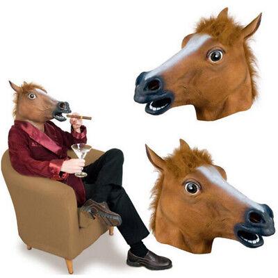 Pferdemaske Gaul Pferd Hengst Masken Tiermaske Gummimaske Gummi Pferde