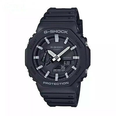 NEW G-Shock Dial Black Resin Strap Men's Watch GA-2100-1AER