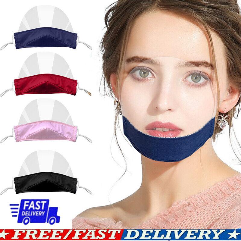 Clear Visible Mouth Cover Shield Mini Cotton Shield Chin Mask Anti-splash Adjust