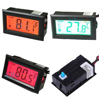 Led Lcd Screen Digital Temperature Meter -50c - 70c Gauge Thermometer Sensor