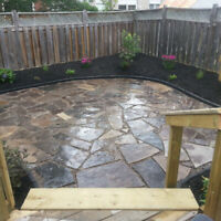 Landscaping, Interlocking Brick, Retaining Wall and Lawn Care