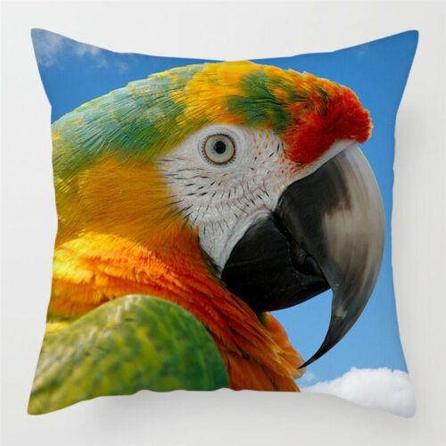 "Parrot 17"" Decorative Throw Pillow Case Cover"